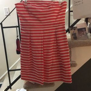 Size 16 Coral/Red & White Striped Dress
